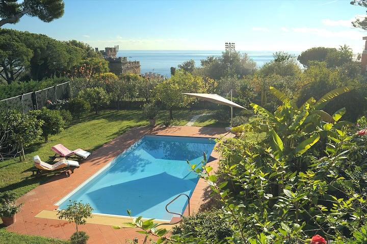 Magnificent Villa with private pool & garden,Wi-Fi