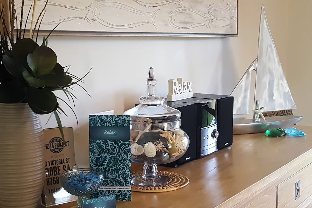 Coastal, relaxing theme throughout the house
