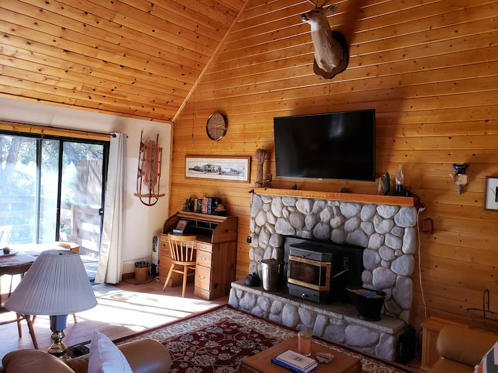The Loafing Bear- 2bd rustic cabin in the pines!