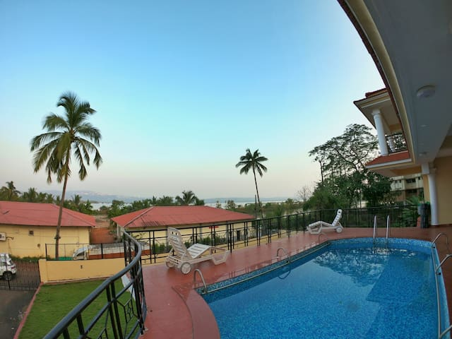 Private Luxury 5 BHK Lake View Retreat Villa.