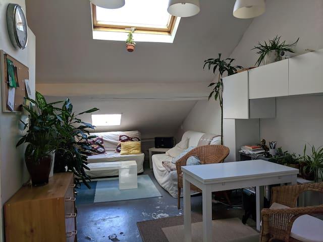 Artist studio in the attic in central Paris