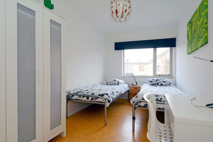 Spacious 10,5m2 room with 2 beds