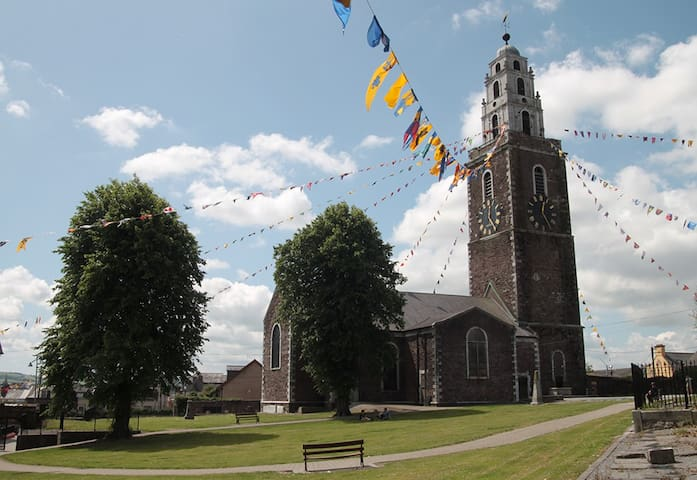The church of Saint Anne from park. Next door to 15 Chapel Street!