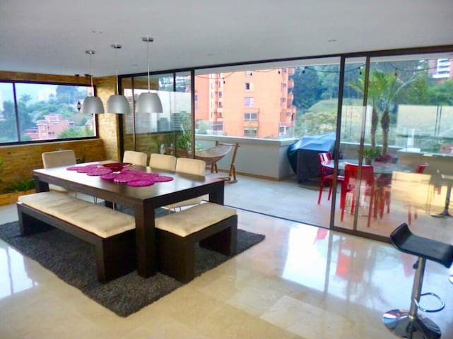Stunning lux penthouse with best Cityview - Medellín - Flat