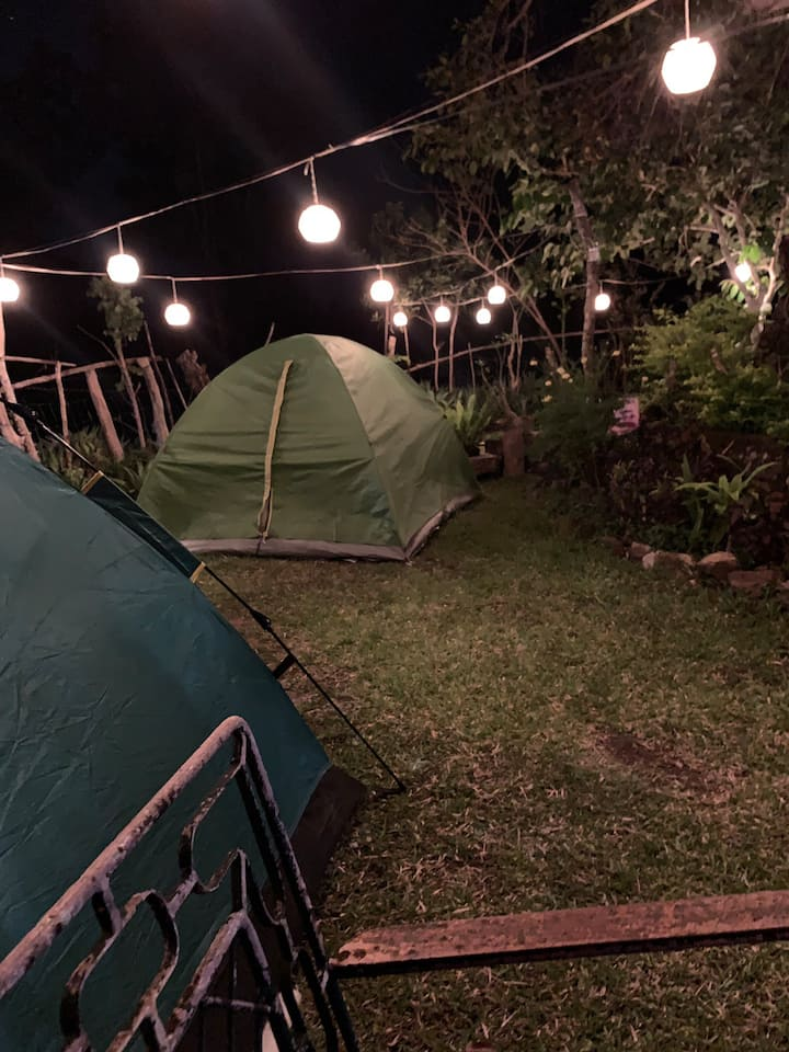 Glamping site (mountain view)