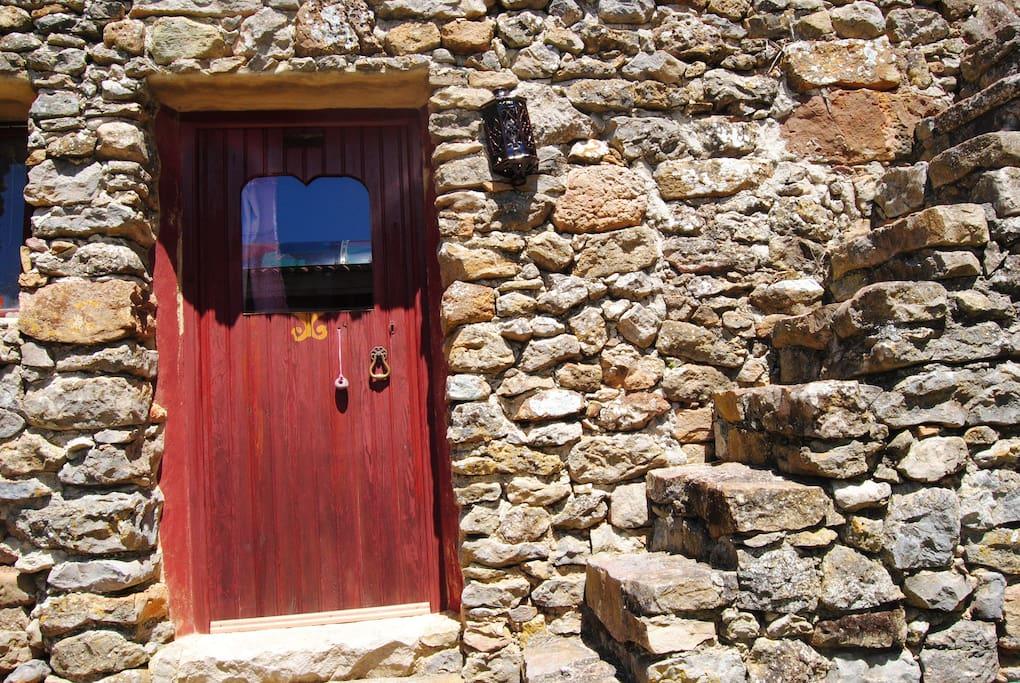 Romana house entrance Entrada da casa Romana
