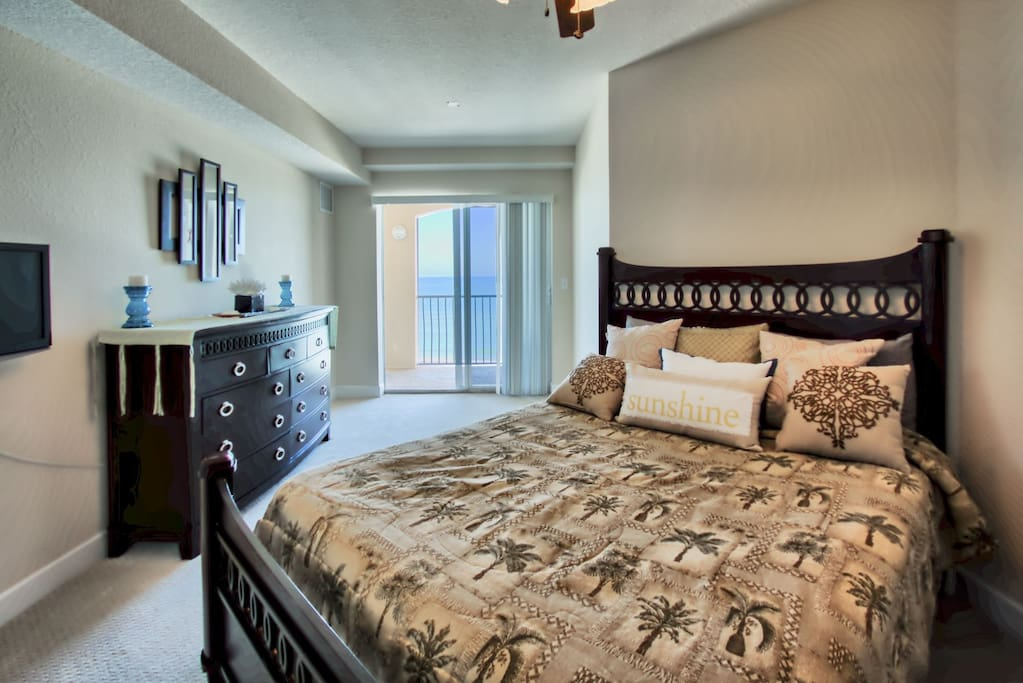 Master bedroom with views of the Gulf