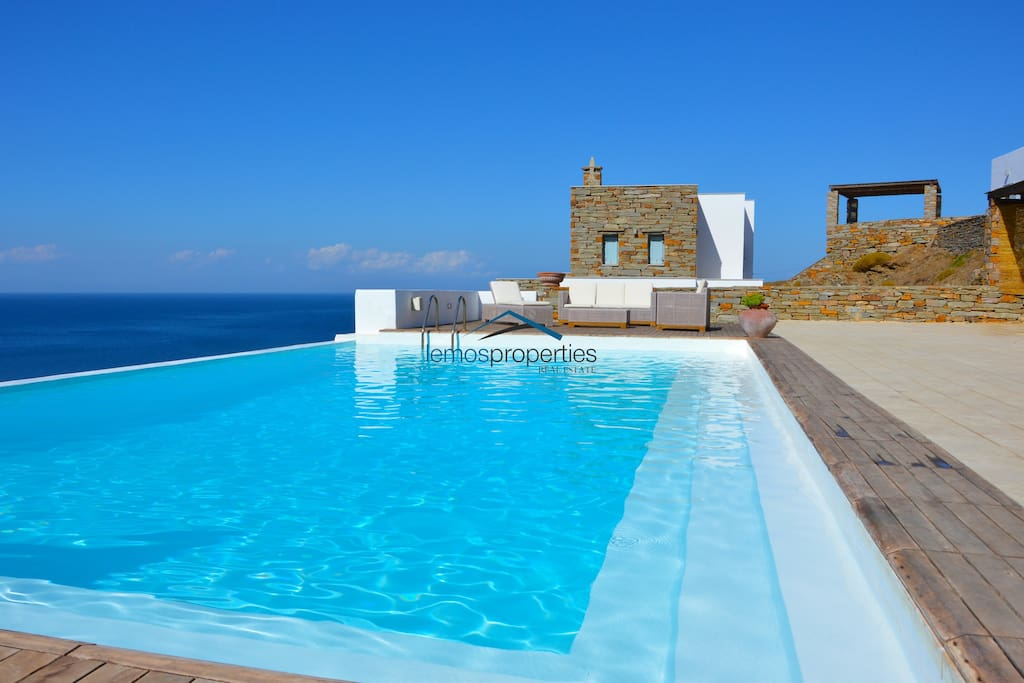 One of the sea water swimming pools