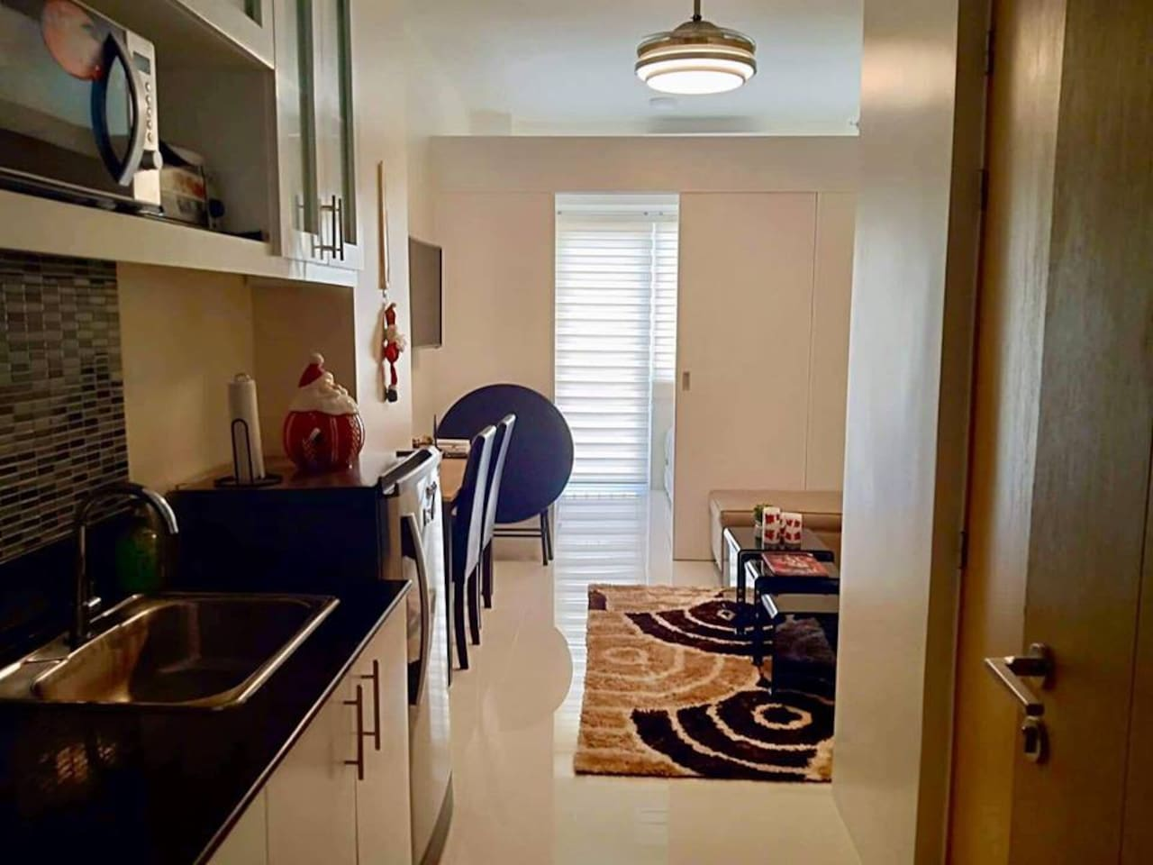 Kitchen to Living Room to Bedroom with 2HP Air Conditioner