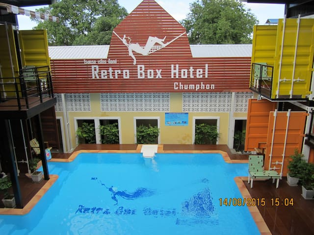 Retro Box Hotel/Retro-Mini Bunk Bed - Tambon Tha Taphao - Bed & Breakfast