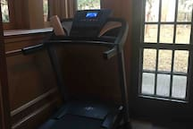 Nordic track treadmill for guest use
