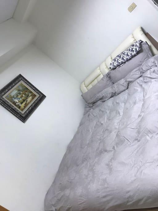双人床--冬天寝具埃及棉/鹅绒被,法国艺术村进口名画