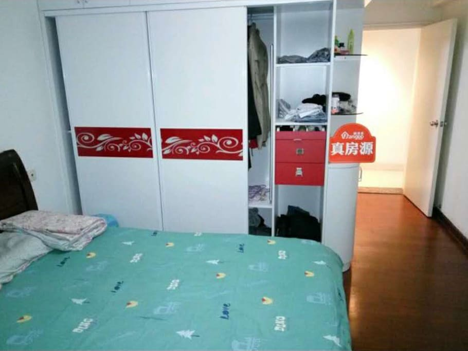 Tidy bedrooms, large cabinets