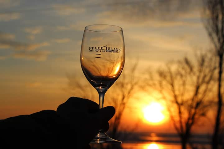 On Pelee Time--Sunsets and Wine