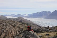 overlooking the ice cap