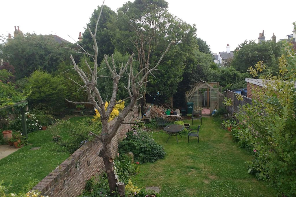 View of the garden from the bedroom window