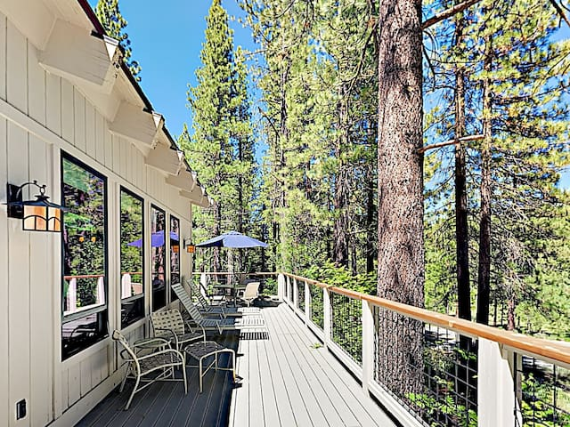 Take in the fresh mountain air on the sweeping wrap-around deck.