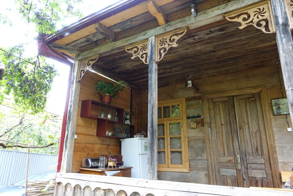 100 years old wooden house