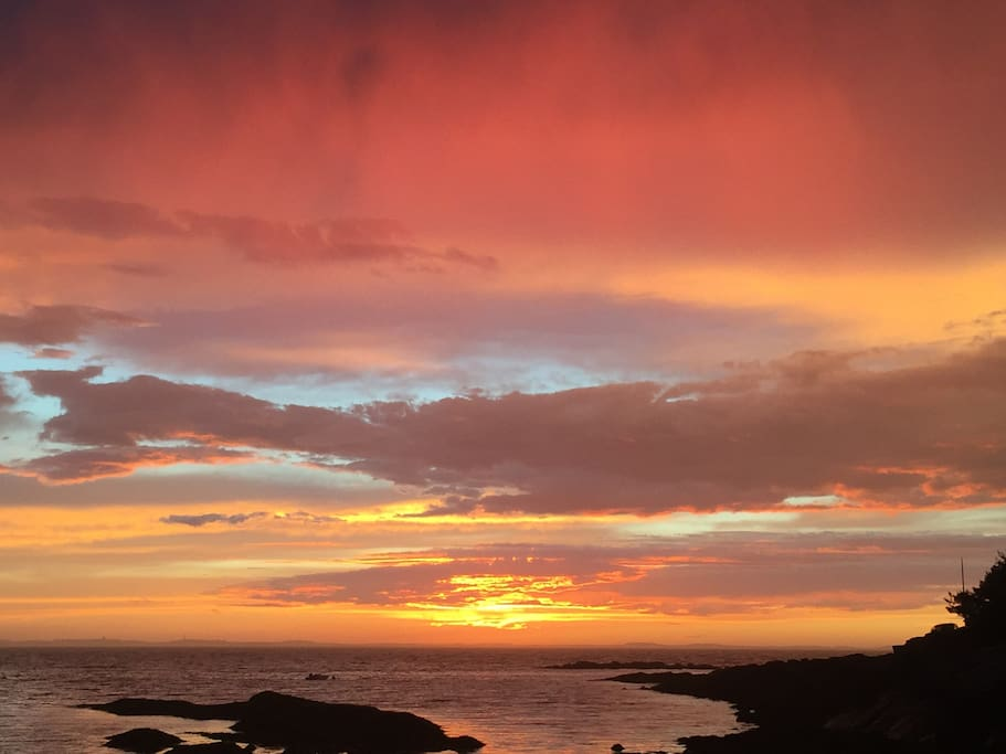 Spectacular sunsets just steps away