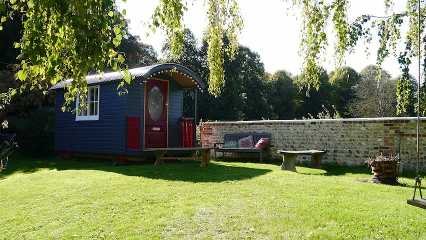 Artists Shepherds hut, South Downs Lewes