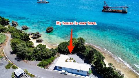 SALE超近海☆回國隔離期間&住宅辦公可利用,免費wifi!有私人沙灘!一整幢出租#AS691