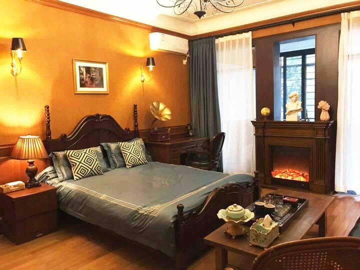 新房大促—穿越到1920s,嗅到旧上海的夜来香—静安寺旁老洋房双床房