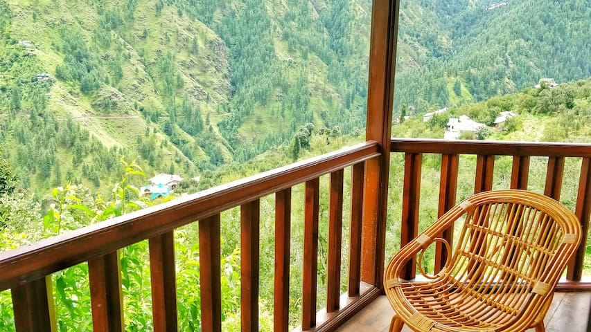 scenic mountain view from room balcony