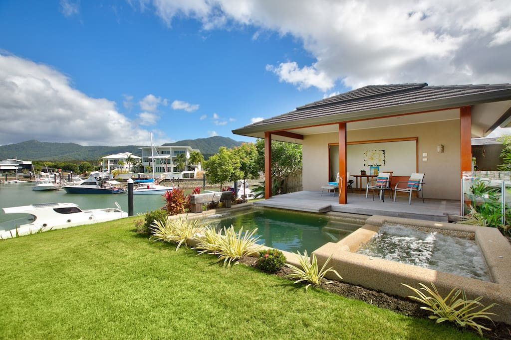 The pool, spa and cabana make for a 'Resort Feel'
