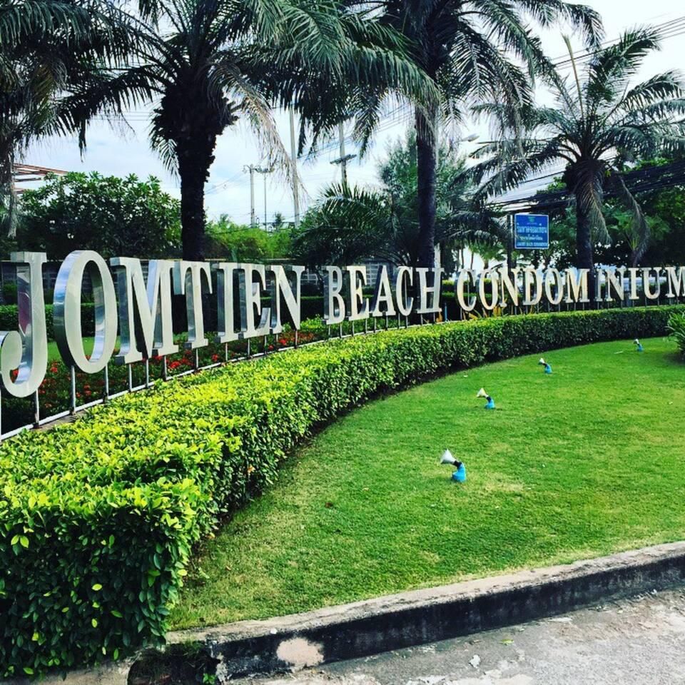 Jomtien Beach Condominium entry sign
