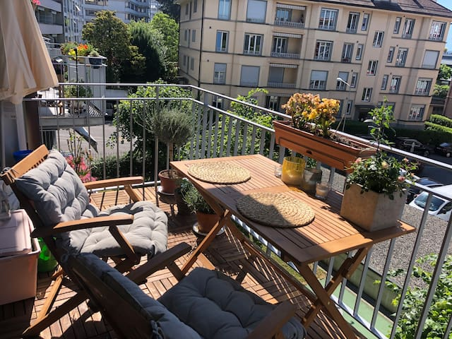 Amazing location with 2 bedrooms and 2 balconies