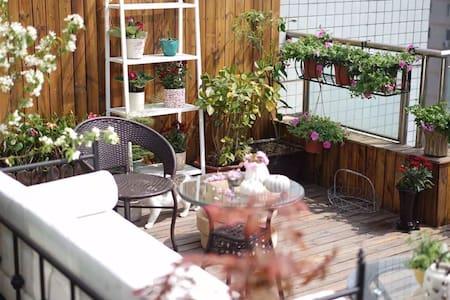 西岱岛猫姐的中关村最美楼顶花园猫窝露台,最佳夜景住在花园里 - ปักกิ่ง - (ไม่ทราบ)