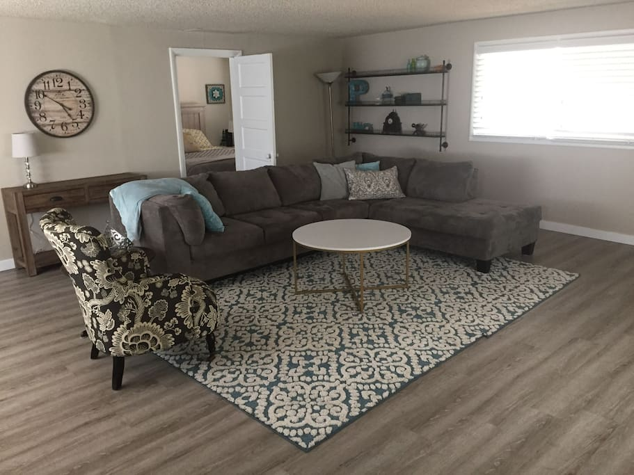 Large open living room and updated flooring throughout the home!