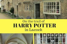 20 minutes to Lacock. Entire village used in many tv and films. Harry's cottage. The amazing Sign of the Angel restaurant. Well kept secret. National trust village.