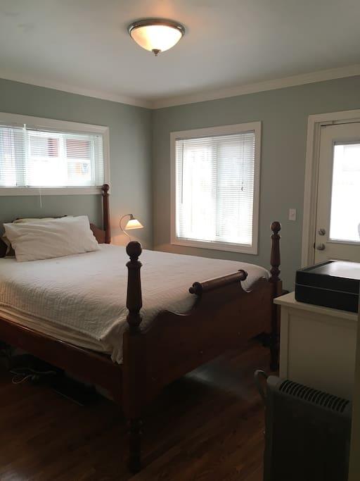 Master bedroom has separate entrance.