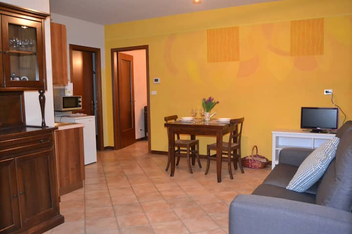 Apartment MENTA in La Mussia - AirCo, pool, WiFi