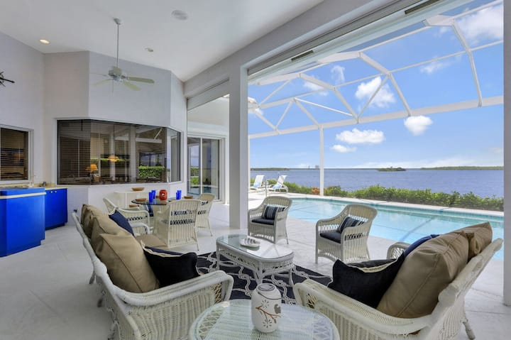 Spectacular Open Water Views Await You From Your Private Lanai & Pool