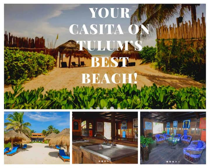 Cute Jungle House on Tulum's Best Beach Sleeps 2-4
