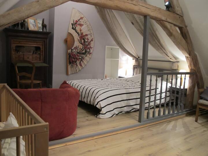 Chateaux de la Loire, Une chambre.