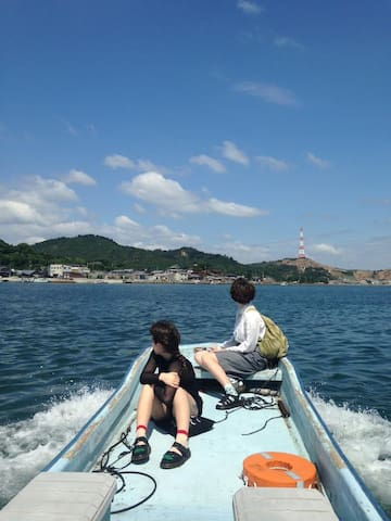 Mukaejima away 100m from Naoshima Private room(2P)
