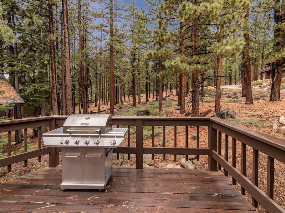 Keep meals simple and grill out on the wraparound deck.