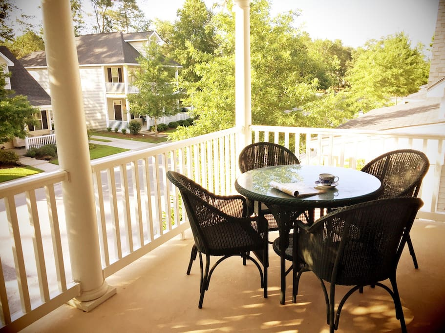 Private veranda to enjoy with a morning cup of coffee or relax in the evening