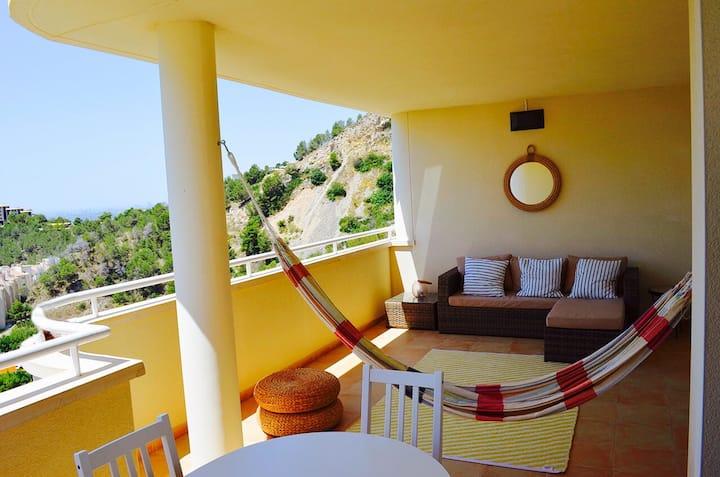 Altea Hills beautiful  flat with sea views