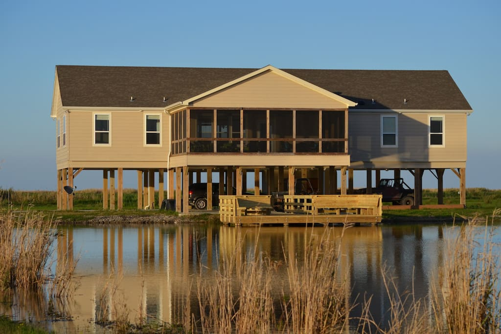 Oversized dock great for fishing, viewing wildlife and sunsets