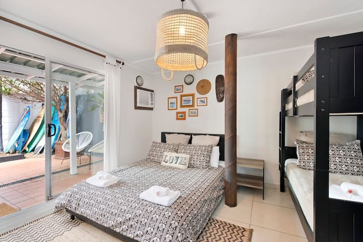 Compact Designer Family Studio with Courtyard