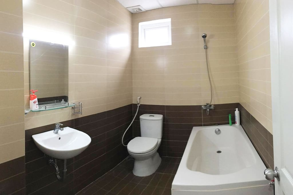 Bathroom with fully amenities