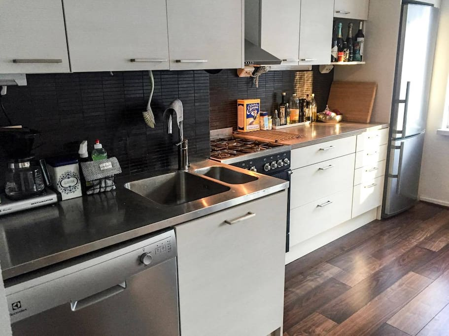 Recently renovated open kitchen with all the necessities.