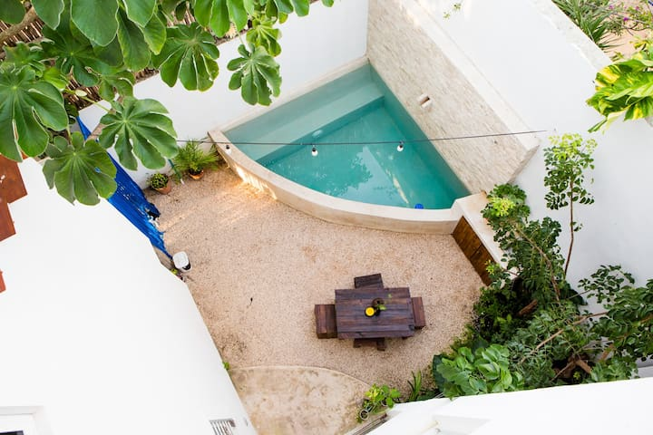 Equipped bedroom + Plunge Pool + Free Bikes