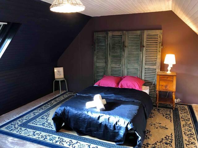 Manoir des vergers de Keravalon - Chambre bleue