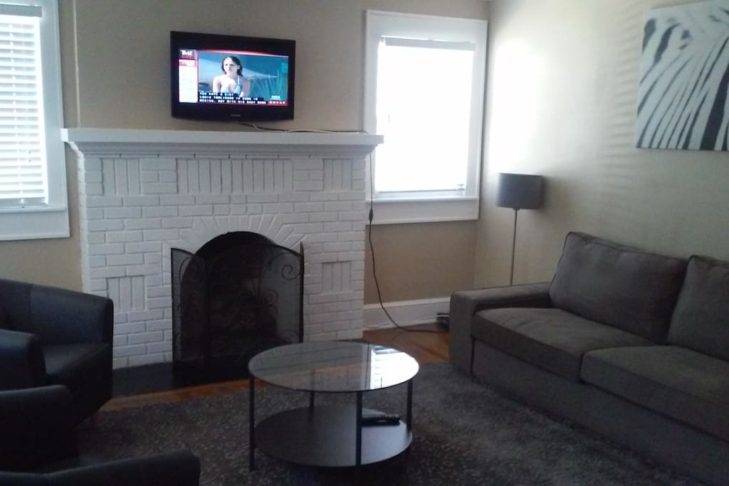 Cozy accent fireplace, just a nice a quiet place to engage with friends and family.
