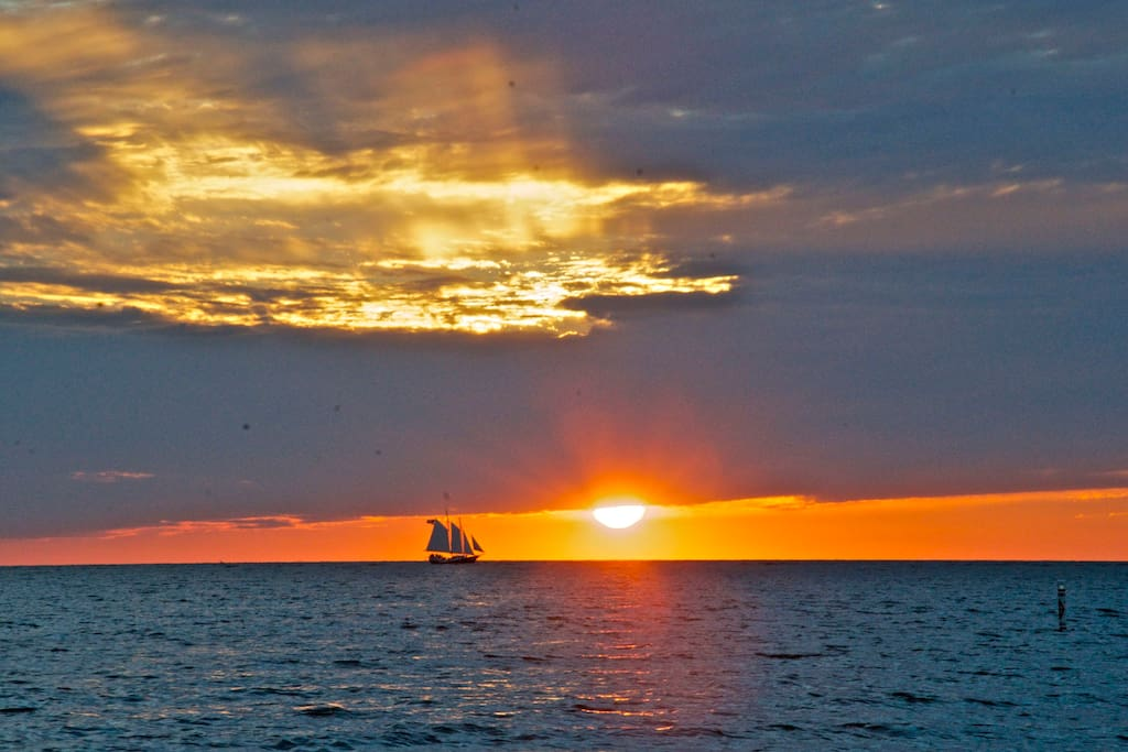 Sunset on Lake Michigan, Grand Haven
